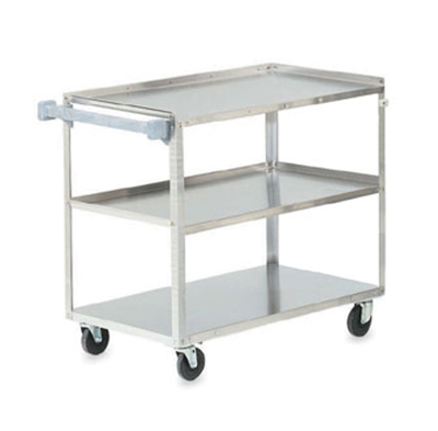 "Vollrath 97140 3-Shelf Utility Cart - 500-lb Capacity, 39-1/2x21x33-1/4"" Stainless"
