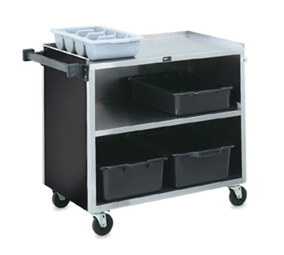 "Vollrath 97182 3-Shelf Paneled Bussing Cart - 500-lb Capacity, 39-1/4x21x34-3/4"" Black"