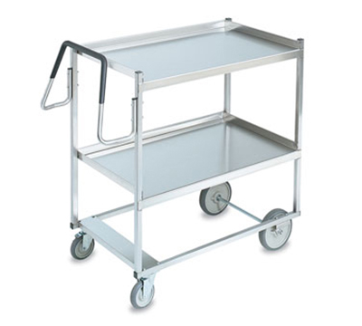 Vollrath 97202 2-Shelf Utility Cart - 900-lb Capacity, Raised Lower Shelf, Stainless