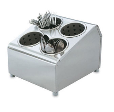 "Vollrath 97240 Cutlery Dispenser - 4 Cylinder, 10-1/8x11-1/2x8-1/2"" Stainless"