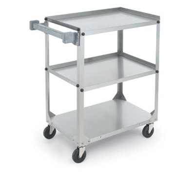 "Vollrath 97320 3-Shelf Utility Cart - 300-lb Capacity, 15-1/2x24x27-1/2"" Stainless"