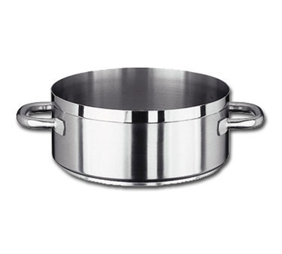Vollrath 3320 20-qt Induction Casserole Brazier Pan - Aluminum Bottom, 18-ga Stainless