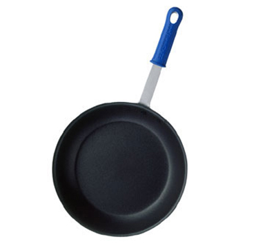 "Vollrath EZ4010 10"" Wear-Ever Fry Pan - CeramiGuard Non-Stick, Silicone Handle, Aluminum"