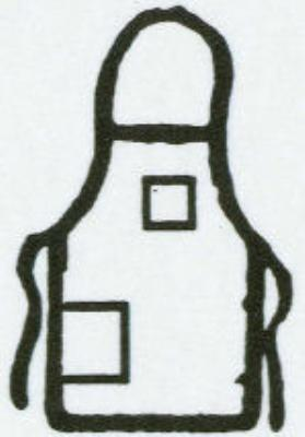 Intedge 335BE Deluxe Apron, Pockets, Bib, Beige