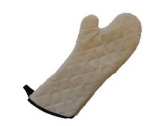 Intedge 338-HDT-17 17-in Heavy Duty Terry Oven Mitt, Natural