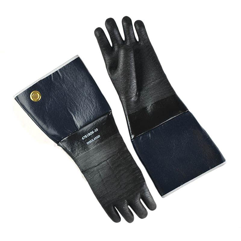 Intedge 6718IR-06-10 18-in Neoprene Rubber Glove w/ Flo
