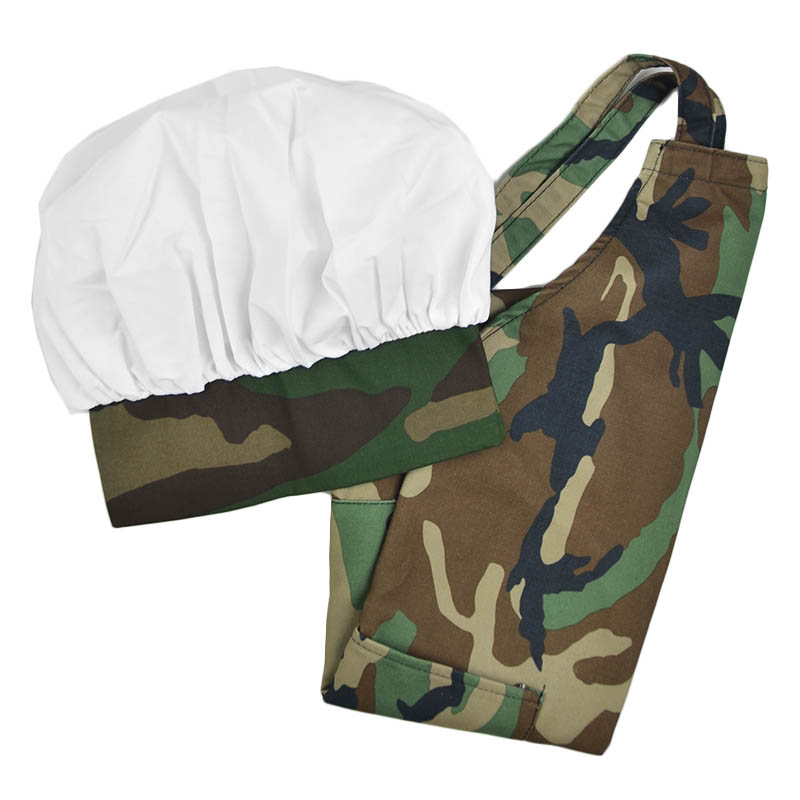 Intedge AHS-K9 RO Kid Apron Hat Set w/ 1-Hip Pocket, Rooster Band