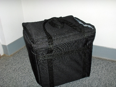 Intedge CIFC-1 BLK Cadura Nylon Insulated Food Carrier, 22 x 12 x 12-in, Black