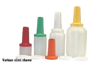 Intedge EZ128 W 128-oz EZ Serve Bottle w/ 1-Piece Neck & Spout, White