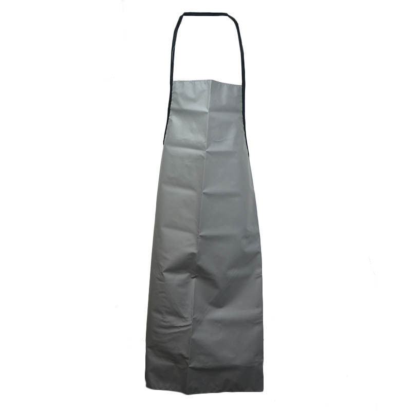 Intedge VDWA GR Heavy Duty Vinyl Dishwashing Apron w/ Removable Ties, 36 x 42-in, Grey