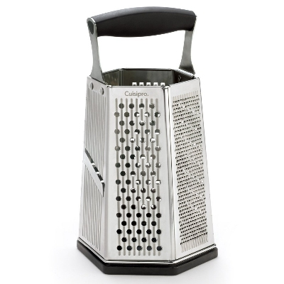 Cuisipro 746877 6-Sided Box Grater w/ Surface Glide Technology & Ginger Gr