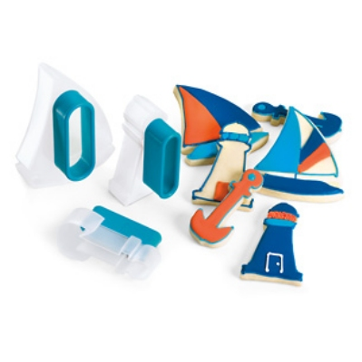 Cuisipro 74-713103 Three Piece Nautical Cookie Cutt