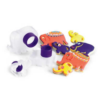 Cuisipro 74-713026 Three Piece Zoo Animal Cookie Cutter Set