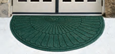 Andersen Mats 2246-3-1.8 175 Waterhog Eco Grand Premier Entrance Mat, Half Oval, 3 x 1.8-ft, Ch