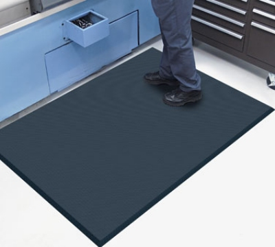 Andersen Mats 494-4-8 Complete Comfort Anti-Fatigue Floor Mat, 4 x 8-ft, Black
