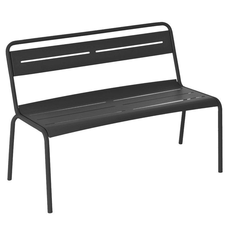 EmuAmericas 163 46.5-in Stacking Bench w/ Steel Slat Seat & Back, Tubular Steel Frame,