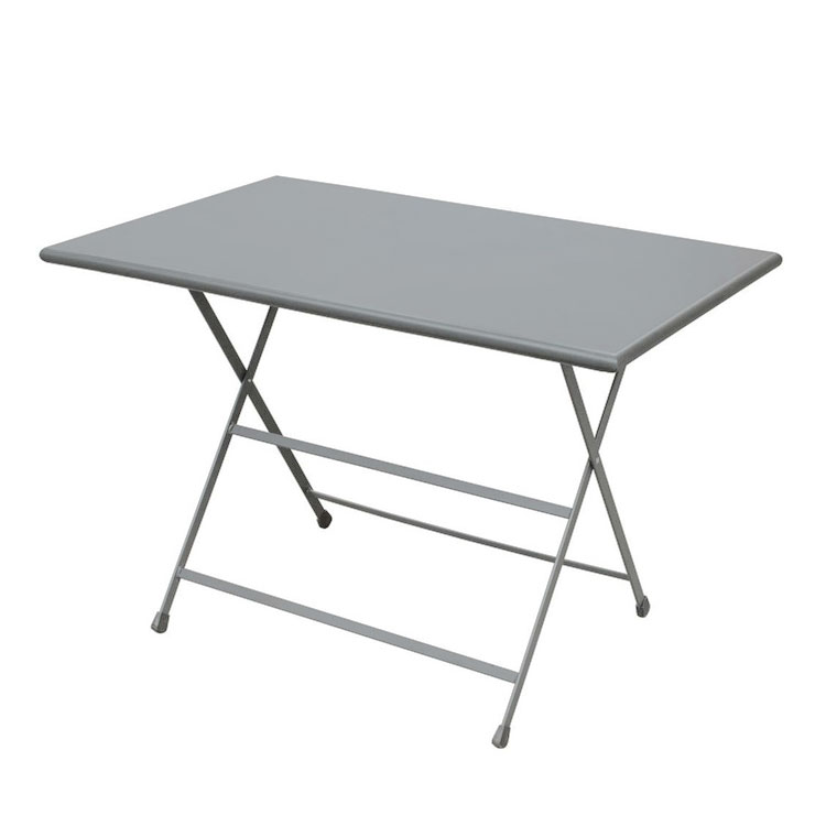 EmuAmericas 331 ALU 44-in Rectangular Folding Table w/ Solid Top, Aluminum