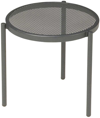 EmuAmericas 100 ALU Disco Stacking Low Table, Steel Mesh Top, Aluminum