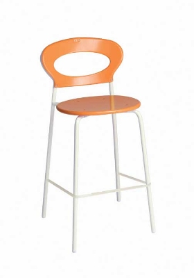 109 AIRON Sporty Stacking Barstool Solid Seat & Back Iron Restaurant Supply