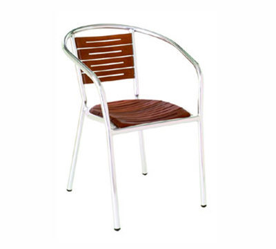 EmuAmericas 1103 Sofia Stacking Armchair, Teak Slated Seat & Back,