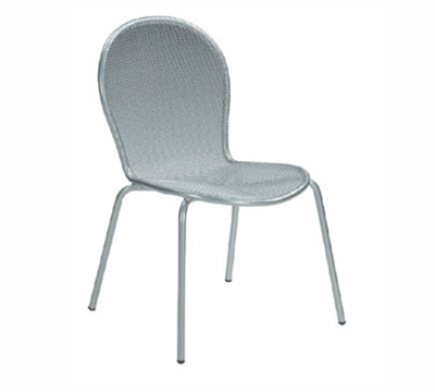 EmuAmericas 111 Ronda Side Chair, Steel Mesh Seat & Back, Bronze