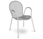EmuAmericas 116 ALU Ronda Stacking Armchair, Mesh Seat & Back, Aluminum
