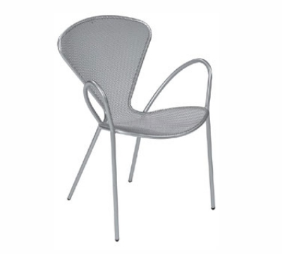 124 Mouse Armchair Mesh Seat & Back Steel Frame Bronze Restaurant Supply