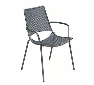EmuAmericas 151 WHITE Topper Armchair, Mesh Seat & Back, Tubular Frame, White