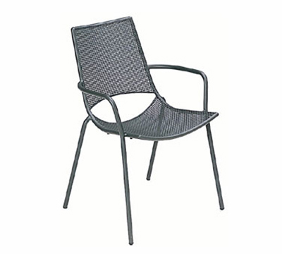 EmuAmericas 151 ALU Topper Armchair, Mesh Seat & Back, Tub