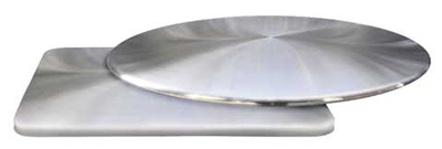 1583 Leo Table Top Brushed Design 36 in Diameter Stainless Steel Restaurant Supply