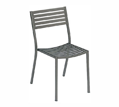 EmuAmericas 263 BLACK Segno Side Chair, Slatted, Square Tubular Frame, Black