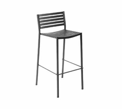 EmuAmericas 264 AIRON Segno Barstool, Slat Seat & Back, Square Frame, Iron
