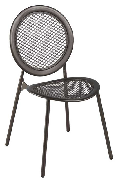 EmuAmericas 3396 WHITE Antonietta Side Chair, Steel Mesh Seat & Back, White