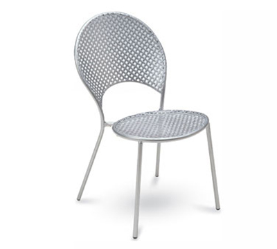 3402 WHITE Sole Side Chair Mesh Seat & Back Tubular Frame White Restaurant Supply