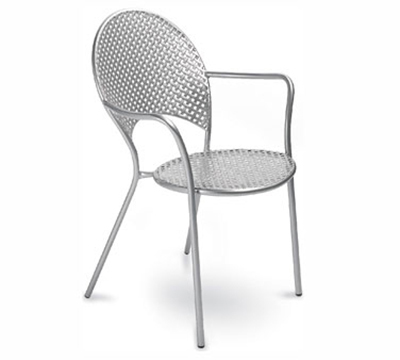 EmuAmericas 3403 AIRON Sole Armchair, Steel Mesh, Tubular Frame, Iron