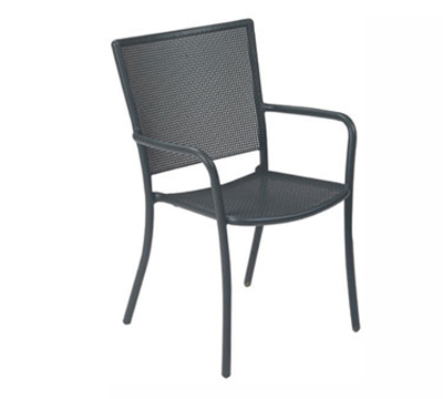 EmuAmericas 3413 WHITE Podio Armchair, Steel Mesh, Tubular Frame, White