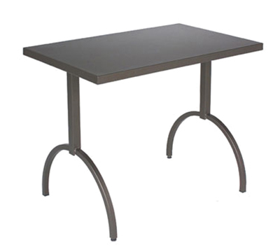 EmuAmericas 3521 AIRON ADA Segno Table, 38 W x 23 in D, Square Frame, Iron
