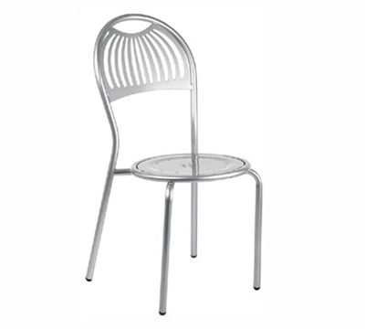 EmuAmericas 354 ALU Stacking Coupole Side Chair, Steel Design Pattern, Aluminum