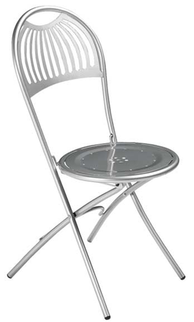 EmuAmericas 360 ALU Folding Coupole Side Chair, Steel Design Pattern, Aluminum