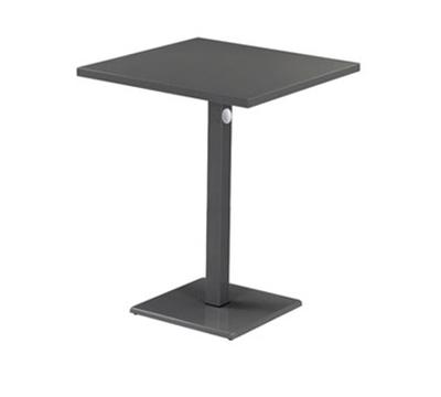 """EmuAmericas 473KH 32"""" Lock Square Bar Table - Indoor/Outdoor, Steel, Aluminum-Finish"""