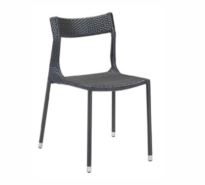 EmuAmericas 6505 Tebe Side Chair, Wicker, Aluminum Frame, Dark Brown