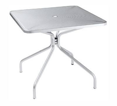 EmuAmericas 801 WHITE Cambi Table, 32 in Squ