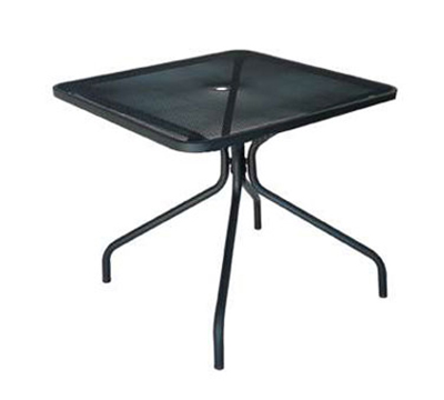 EmuAmericas 802 BLACK Cambi Table, 36 in Square, Umbrella Hole, Mesh Top, Black