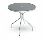 EmuAmericas 813 ALU Cambi Table, 36 in Diameter, Umbrella Hole, Mesh, Aluminum