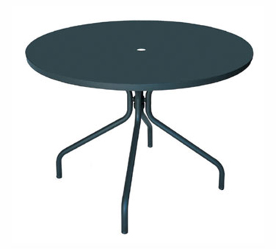 EmuAmericas 828 ALU Solid Table, 32 in Diameter, Umbrella Hole, Solid Top, A