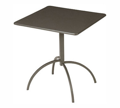 EmuAmericas 852 ALU Steel Segno Tilt Top Table, 28 in Square, Aluminum