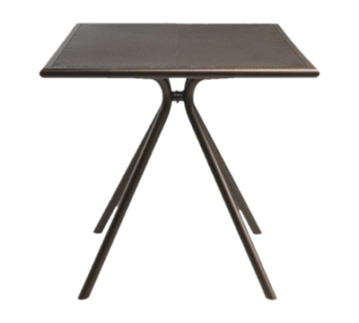 EmuAmericas 860 BRONZE Forte Table, 24 in Square, Adjustable, Mesh Top, Bronze