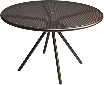 EmuAmericas 864 Forte Table, 42 in Diameter, Adjustable, Mesh Top, Iron