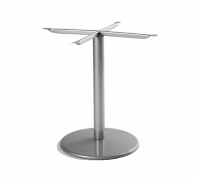 EmuAmericas 902BL ALU Bistro Base, Tops Up To 36 D & 32 in Square, Dining H, Aluminum