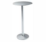 EmuAmericas 902H ALU Bistro Bar Table, 32 in Diameter, Solid Pedestal, Aluminum